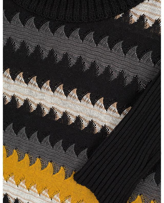 Robe fourreau en maille fine motif zigzag M MISSONI
