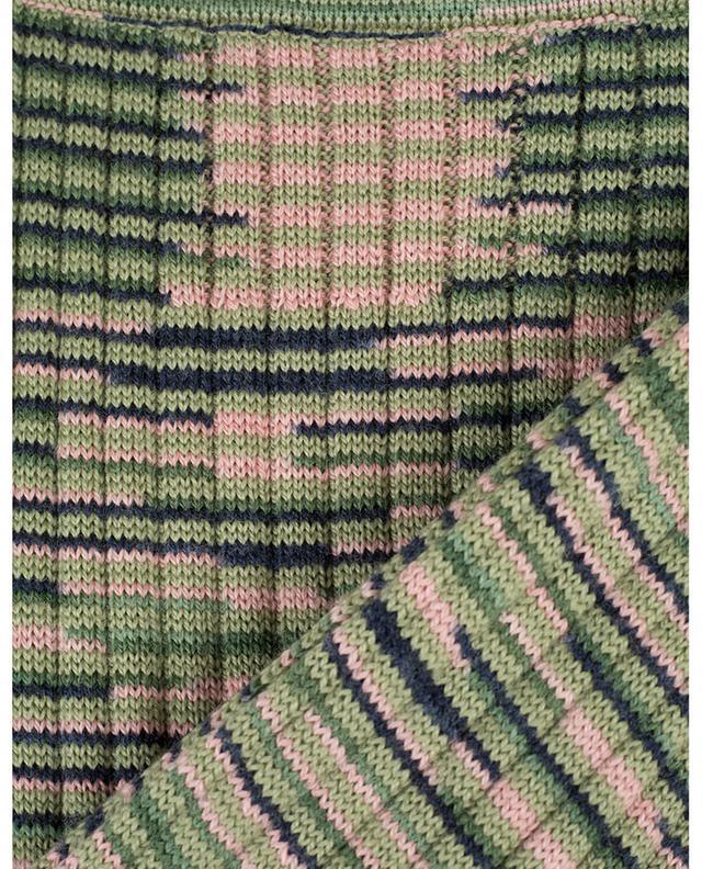 Striped rib knit skirt M MISSONI