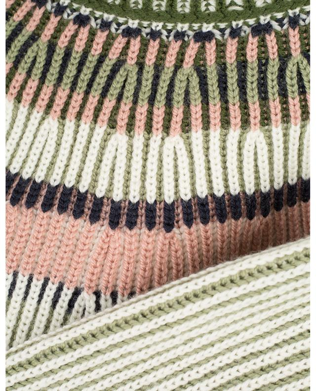 Striped rib knit jumper with raglan sleeves M MISSONI