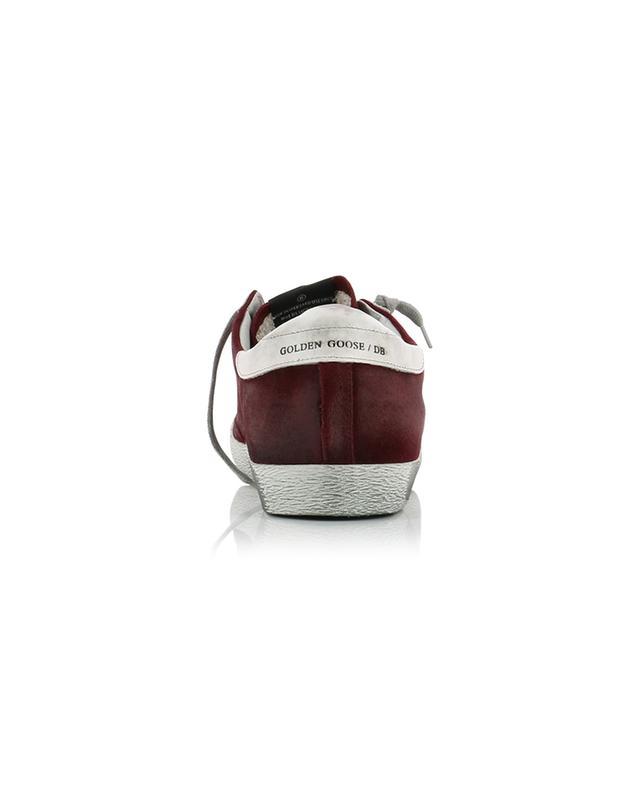 Baskets en daim rouge avec étoile blanche Superstar GOLDEN GOOSE