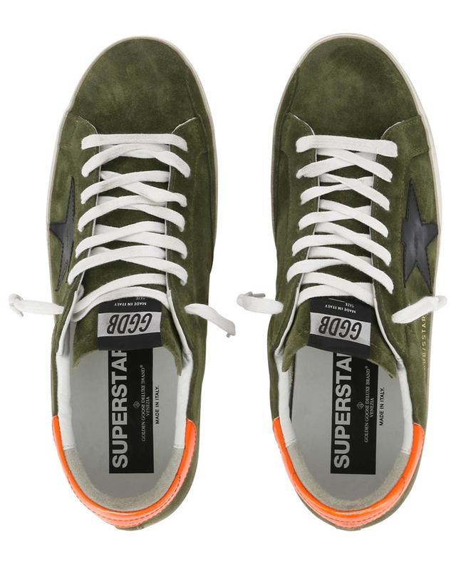 Superstar neon detail suede sneakers GOLDEN GOOSE