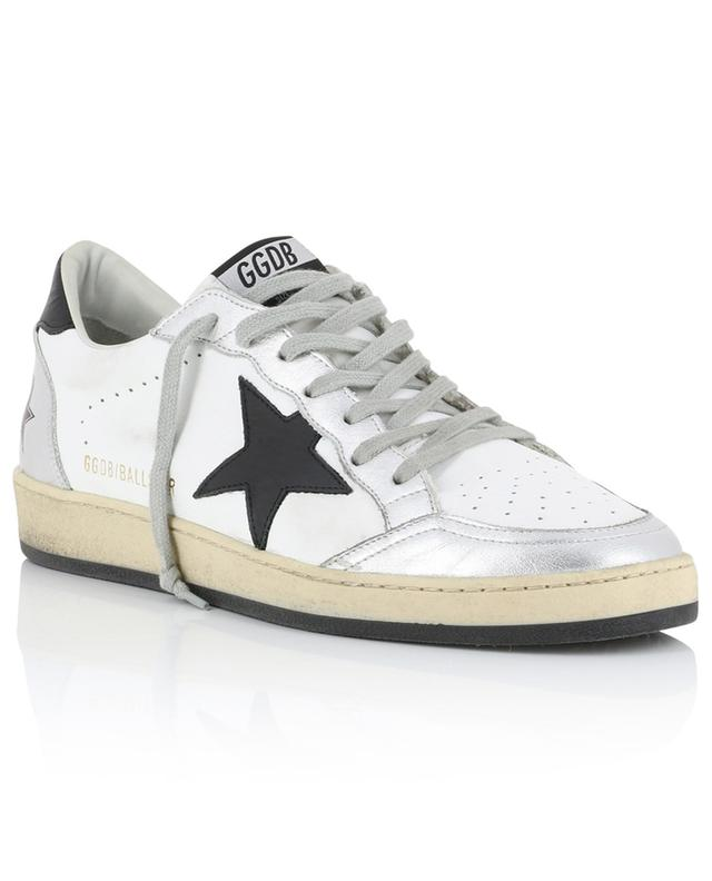Ballstar distressed sneakers with silver leather GOLDEN GOOSE