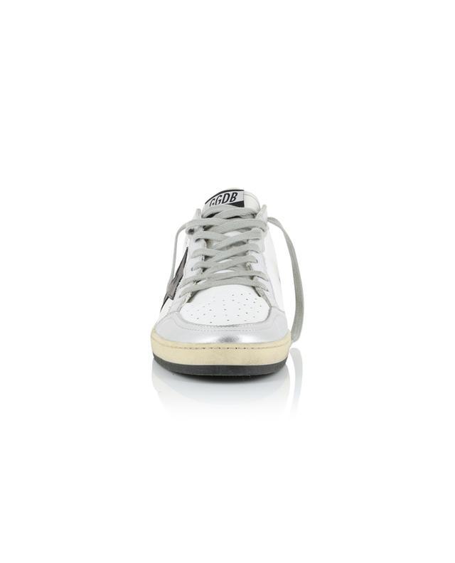 Baskets vieillis détail cuir argenté Ballstar GOLDEN GOOSE