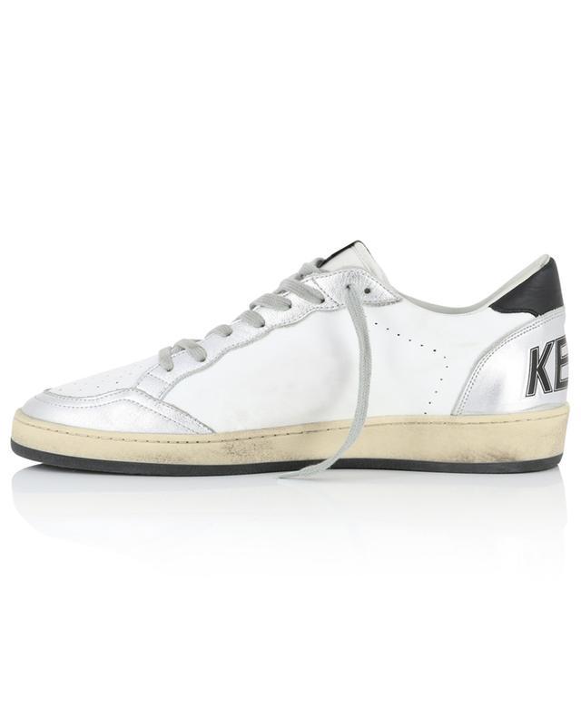 Used-Look-Sneakers mit silbernem Leder Ballstar GOLDEN GOOSE