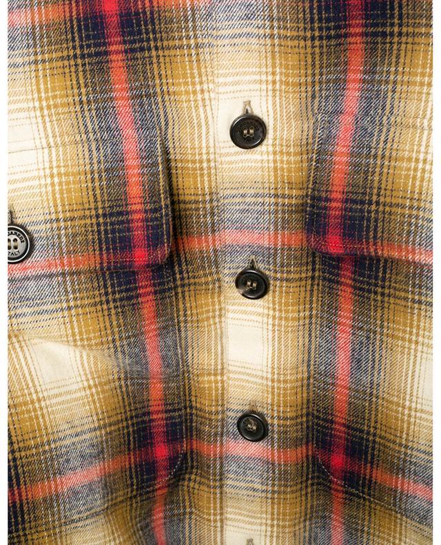 Chemise à carreaux doublée de fourrure synthétique DSQUARED2