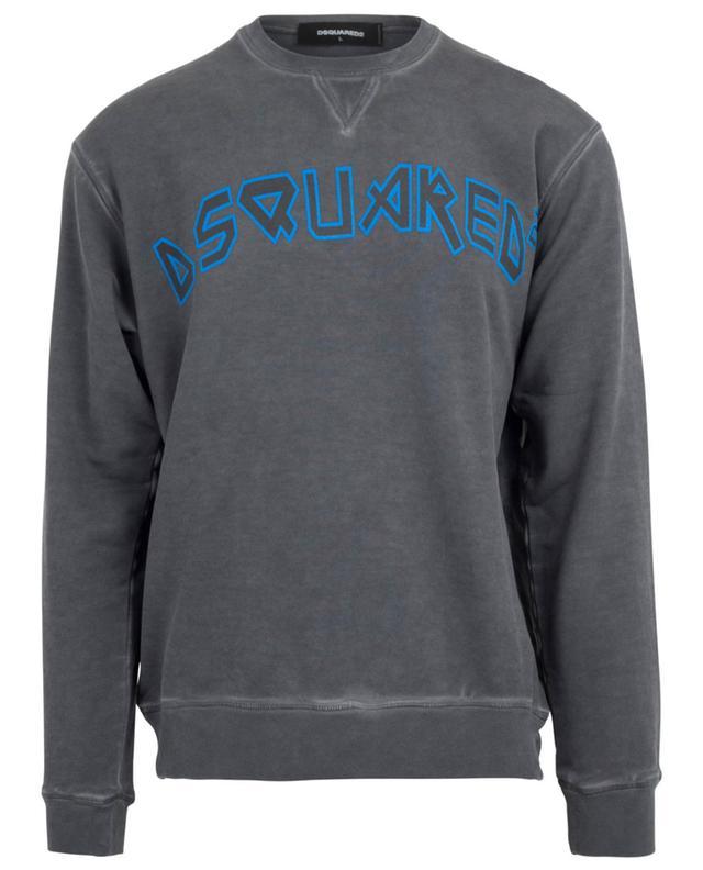 Print cotton sweatshirt DSQUARED2