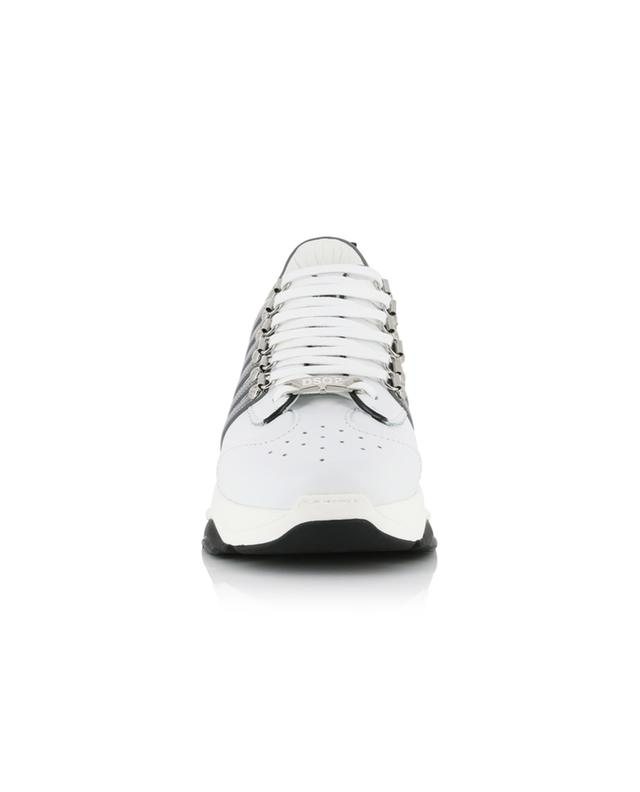 Bumpy 251 leather sneakers with perforations DSQUARED2