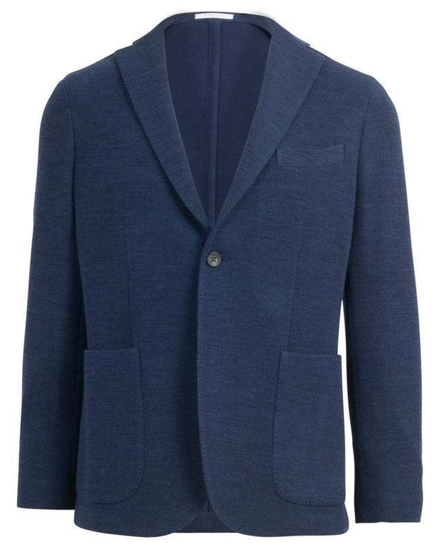 Blazer en laine vierge et coton texturés BOGLIOLI