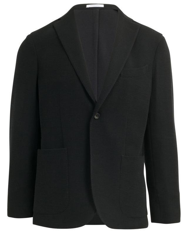 Textured virgin wool and cotton blazer BOGLIOLI