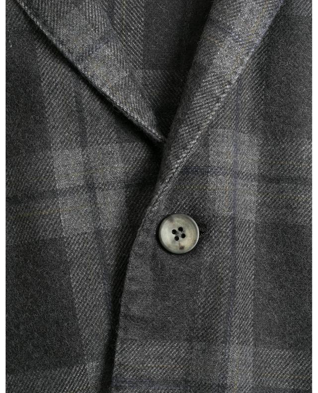 Blazer motif tartan a boutonnière simple BOGLIOLI