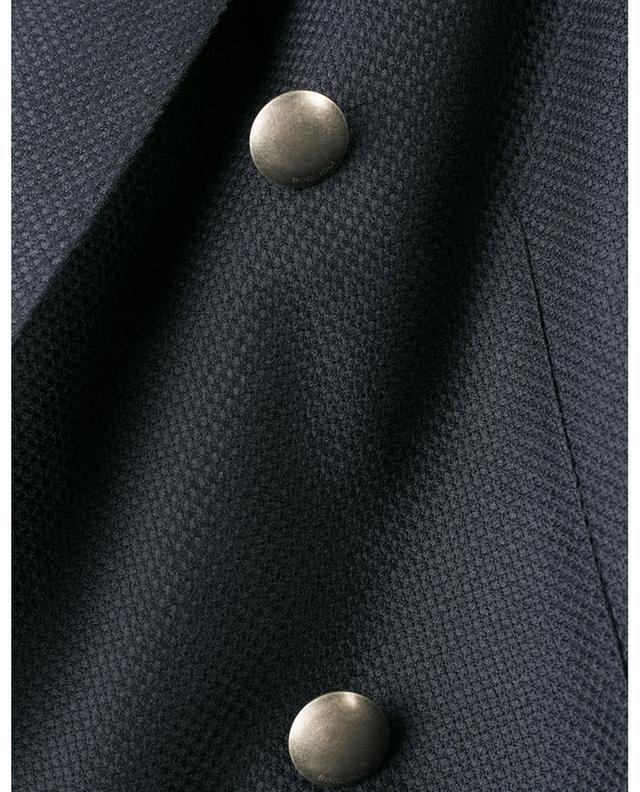 Blazer double boutonnière en laine vierge texturée BOGLIOLI