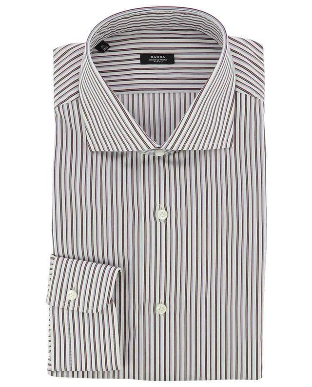 Striped cotton popeline shirt BARBA