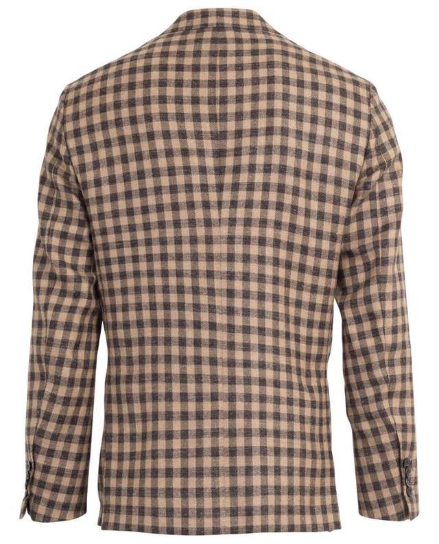 Glar alpaca, wool and linen check blazer BARBA