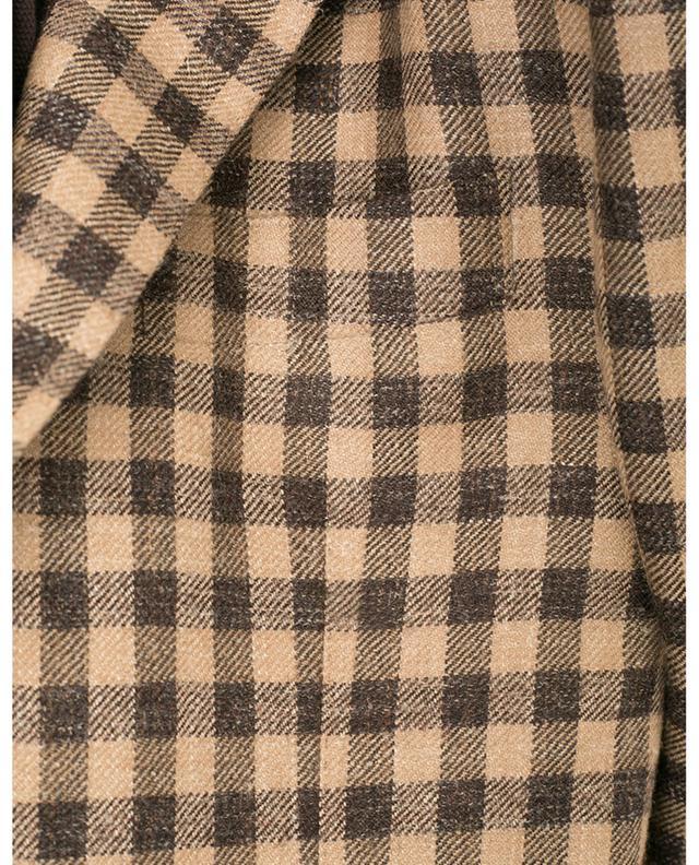 Blazer à carreaux en alpaga, laine et lin Glar BARBA