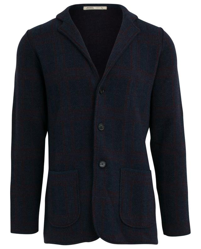 Checked jacquard knit blazer MAURIZIO BALDASSARI
