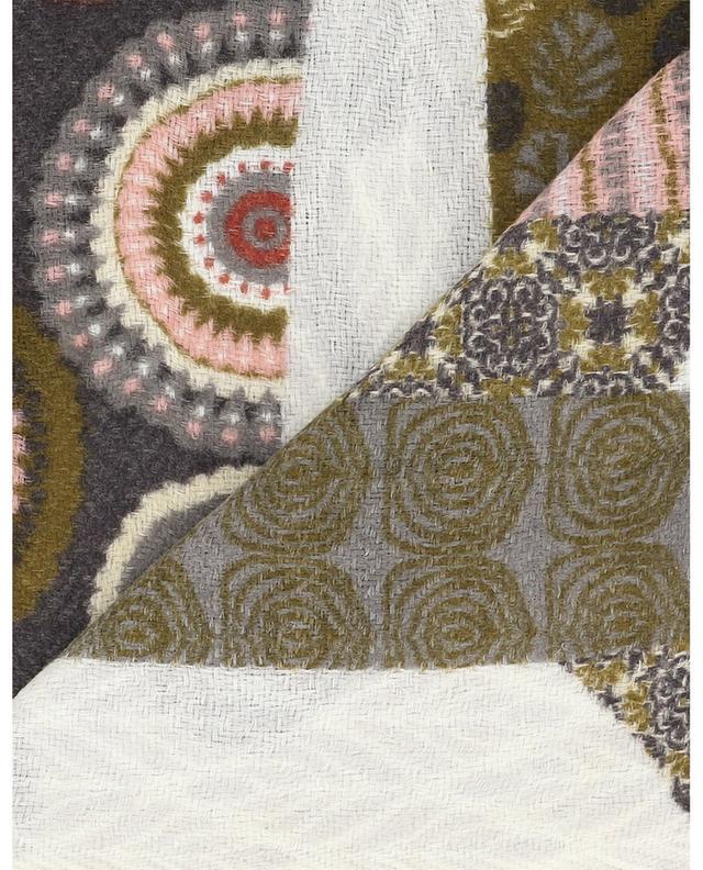 Écharpe imprimée en laine et soie Boisée STORIATIPIC
