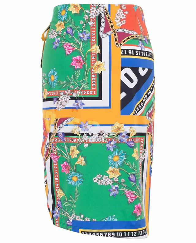 Winnie short fitted scarf print skirt SEDUCTIVE