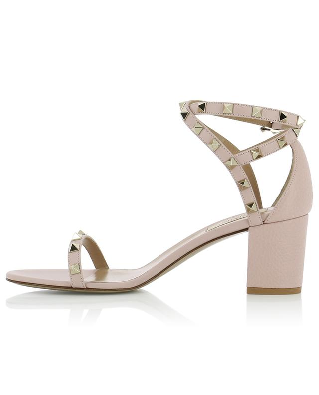 Rockstud grained leather sandals VALENTINO