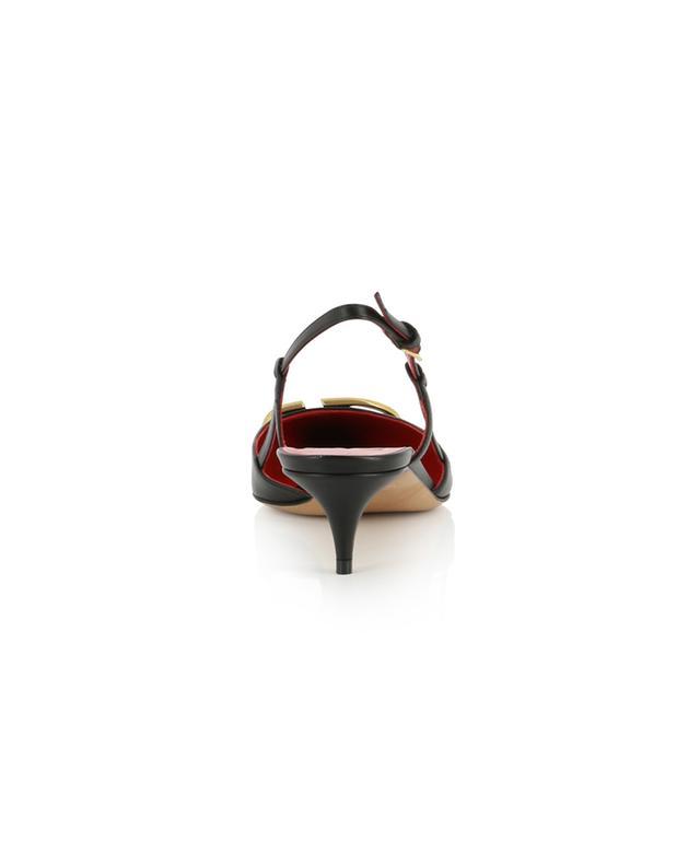 VLOGO 40 leather slingback pumps VALENTINO