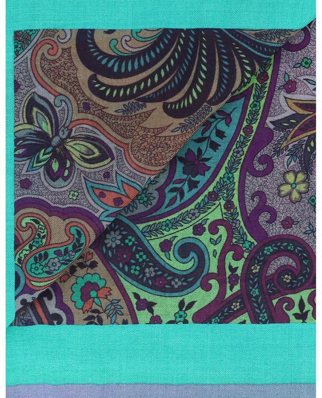 Foulard carré à franges motifs orientaux Bombay ETRO