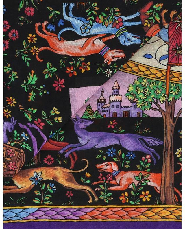 Bombay hunting scene print shawl ETRO