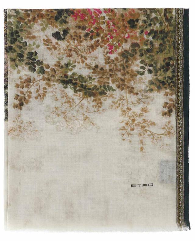 Écharpe fleurie motif British Garden Shaal-Nur ETRO