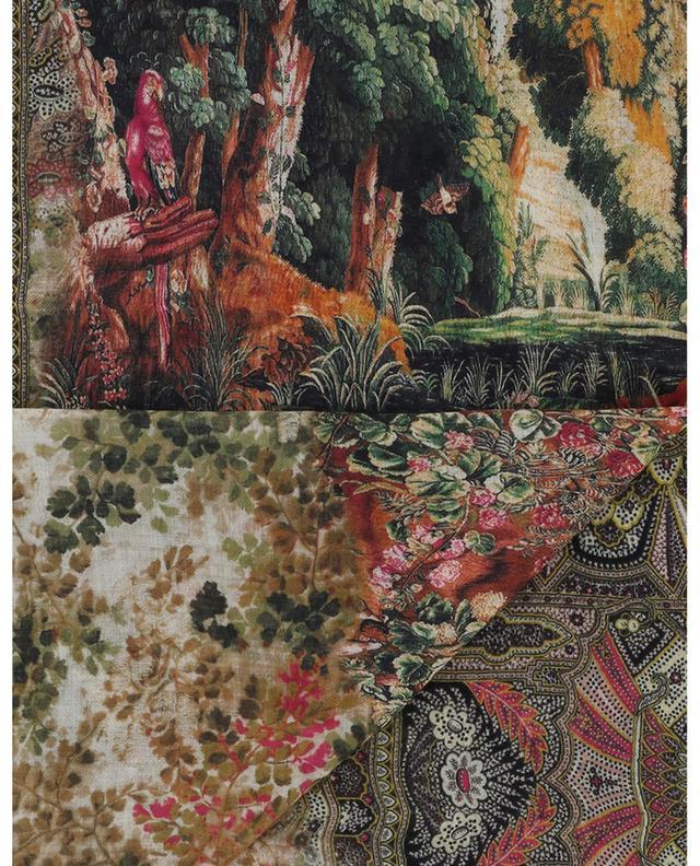 Shaal-Nur British Garden design floral scarf ETRO