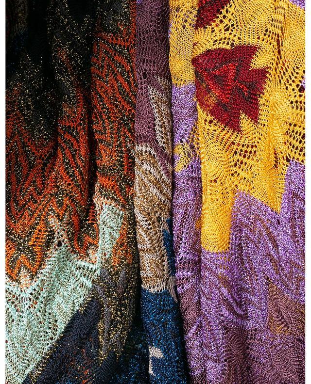 Robe longue en maille scintillante à zigzags MISSONI