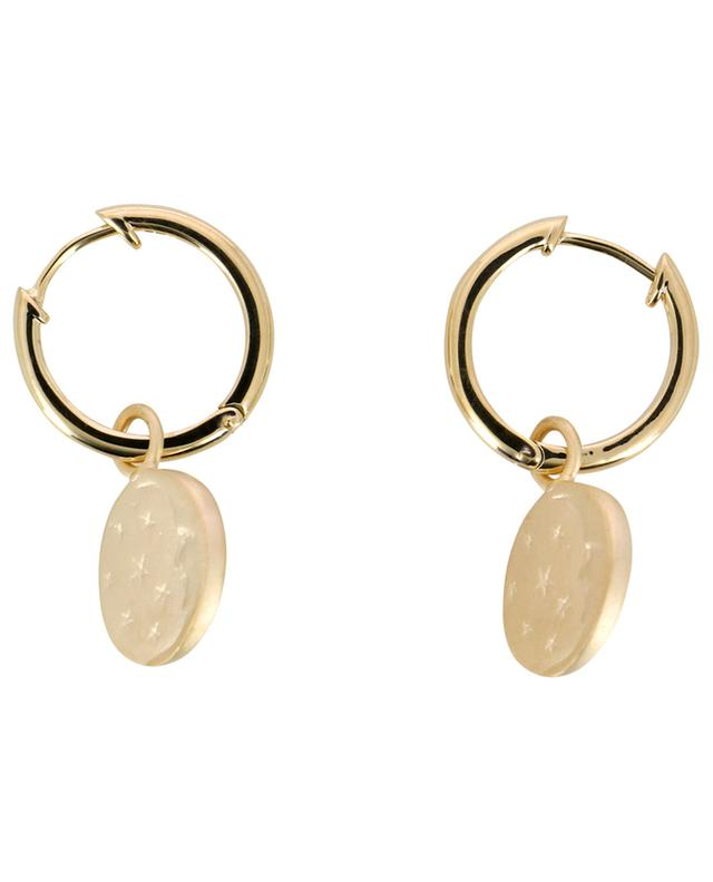 Moon gold plated silver hoop earrings AVINAS