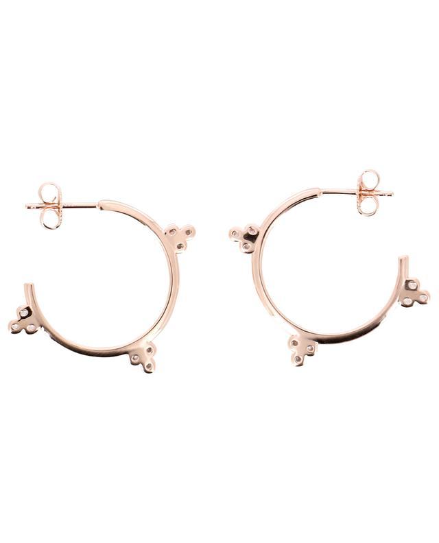 Triade pink gold plated silver hoop earrings AVINAS