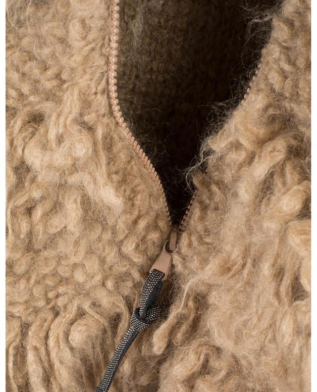 Mohair blend bomber jacket BRUNELLO CUCINELLI