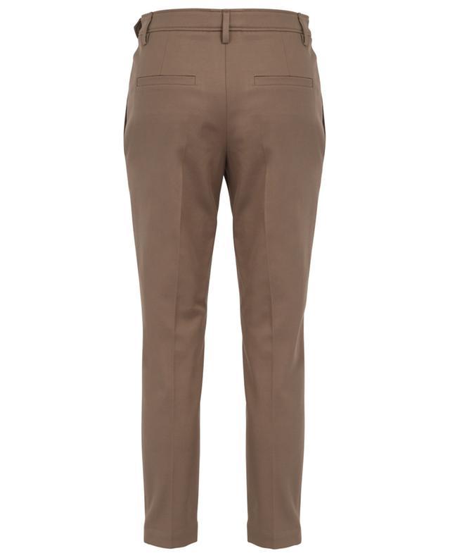Monile straight fit cotton twill trousers BRUNELLO CUCINELLI