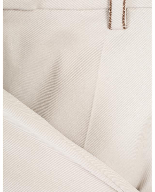 Pantalon droit en sergé de coton Monile BRUNELLO CUCINELLI