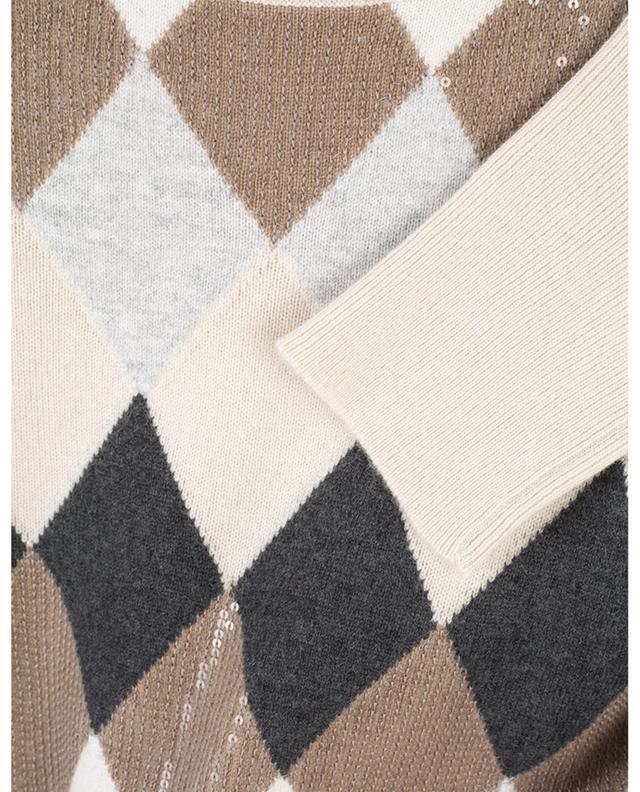 Pull  à carreaux en laine, cachemire et soie BRUNELLO CUCINELLI