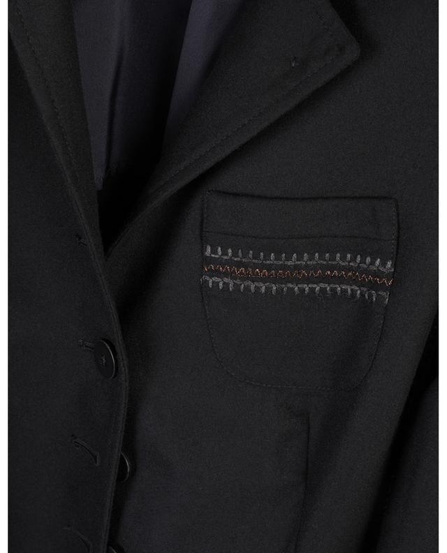 Bestickter Long-Blazer aus Flanell Bine URSULA ONORATI