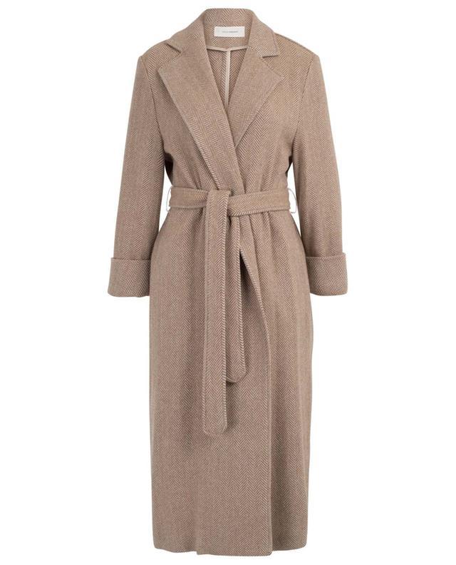 Manteau ouvert avec ceinture motif chevrons Louise URSULA ONORATI