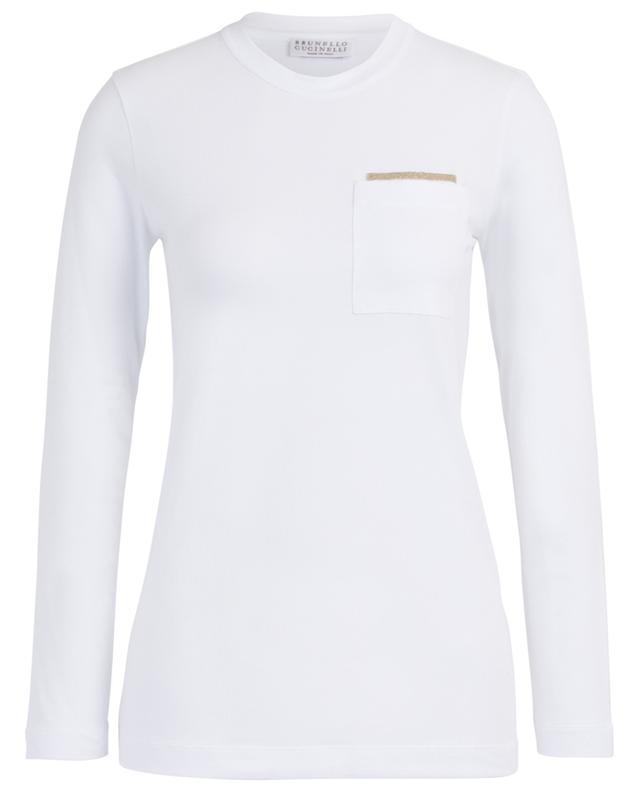 T-shirt à manches longues en coton mélangé BRUNELLO CUCINELLI