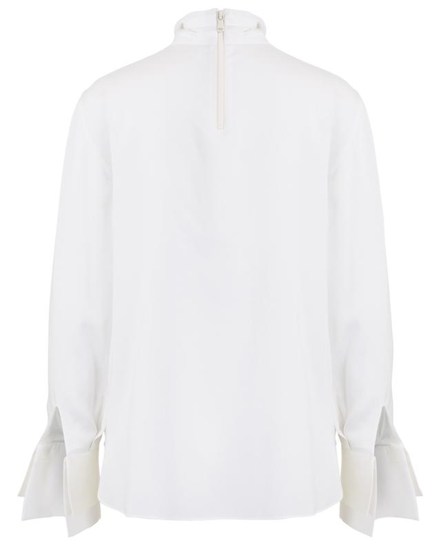 Silk blouse with high collar BRUNELLO CUCINELLI