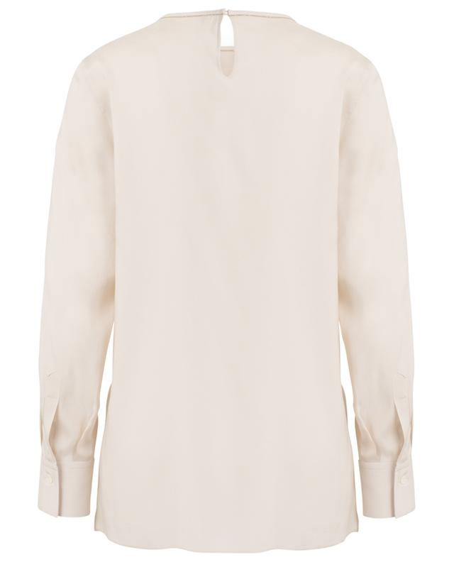 Embroidered silk blouse BRUNELLO CUCINELLI