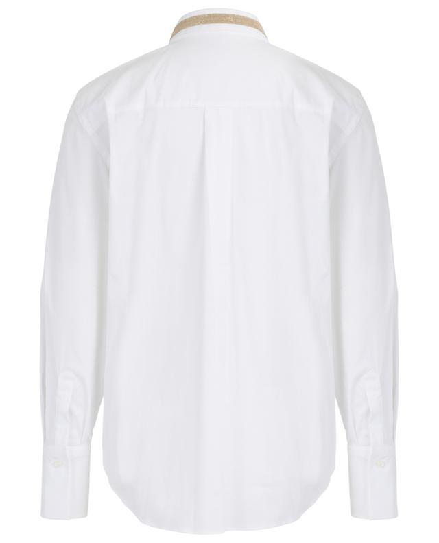 Emroidered cotton blend shirt BRUNELLO CUCINELLI