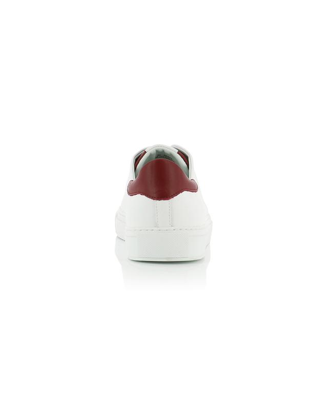 Baskets en cuir blanc et bordeaux Clean 90 AXEL ARIGATO