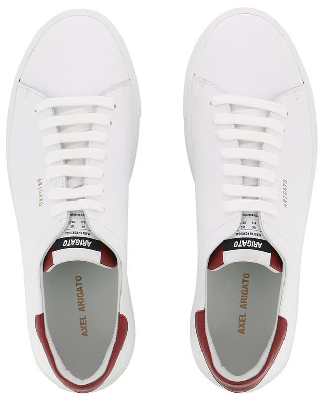 Baskets en cuir blanc et bordeaux Clean 90 AXEL ARIGATO