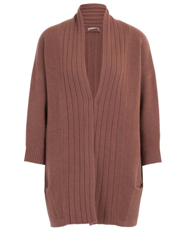 Cardigan oversize esprit kimono en laine et cachemire HEMISPHERE