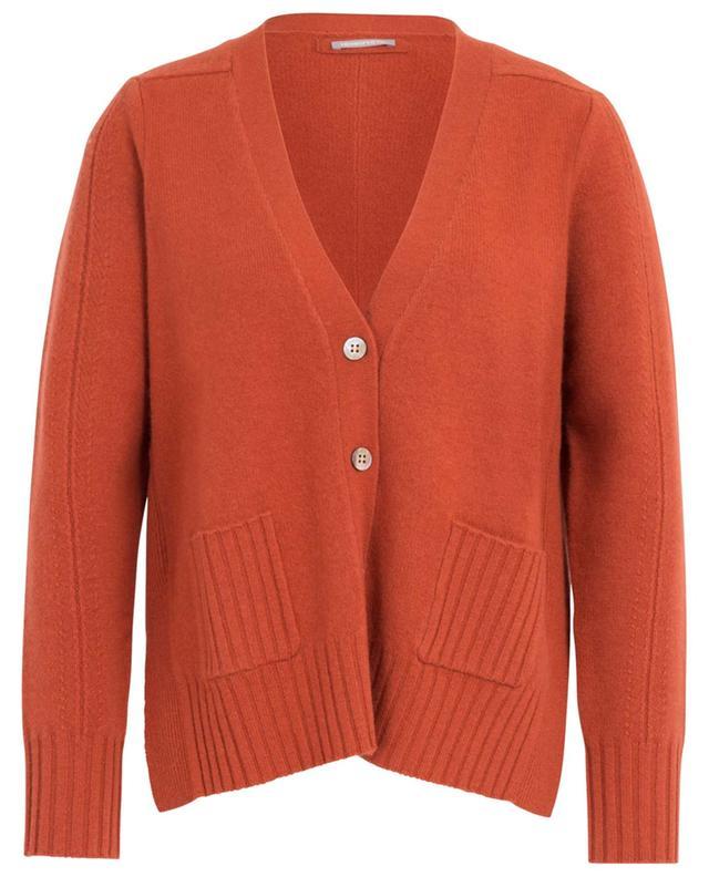 Cardigan boutonné à col V en laine et cachemire HEMISPHERE