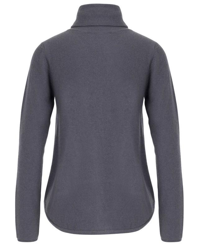 Cashmere turtleneck jumper with curved hem HEMISPHERE