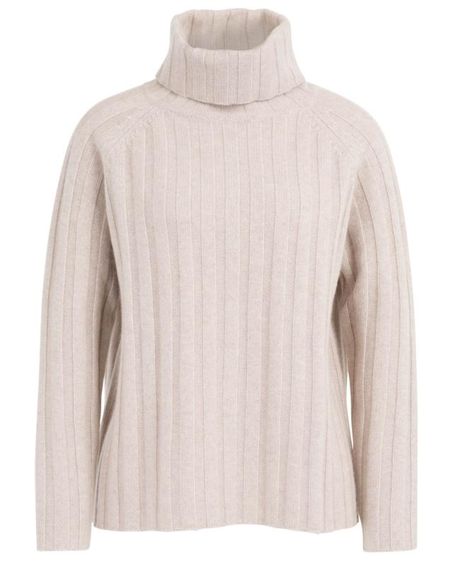 Rib knit cashmere jumper with turtleneck and raglan sleeves HEMISPHERE