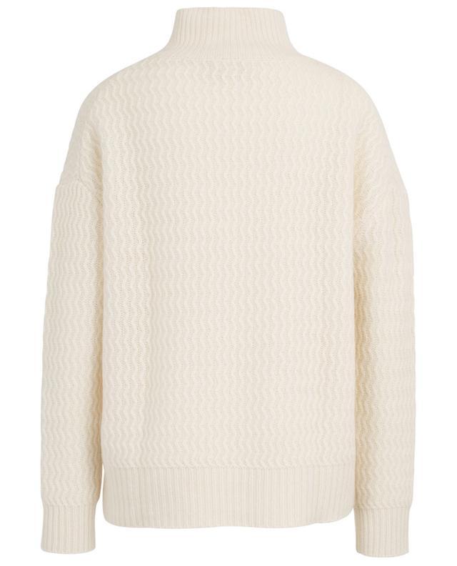 Loose zigzag knit jumper in cashmere HEMISPHERE