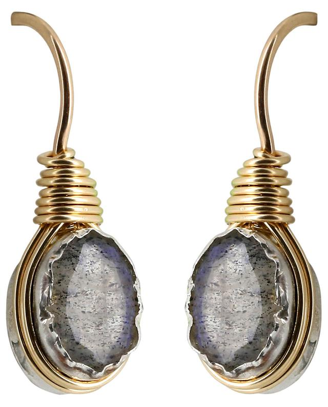 Wire labradorite earrings OTTOMANIA