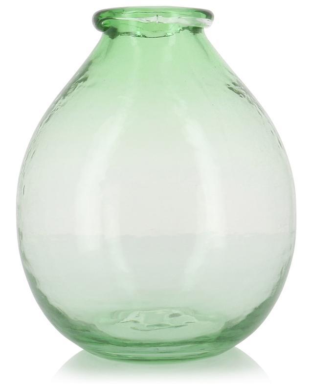 Vase en verre recyclé rond Large GARDEN TRADING