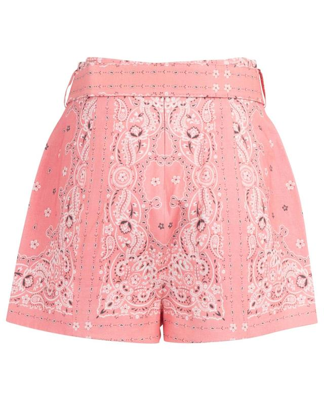 Shorts aus Leinen mit Bandana-Print Heathers ZIMMERMANN